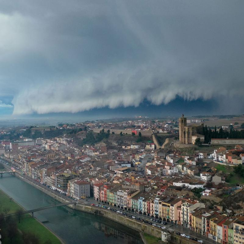 Wall cloud over Catalonia