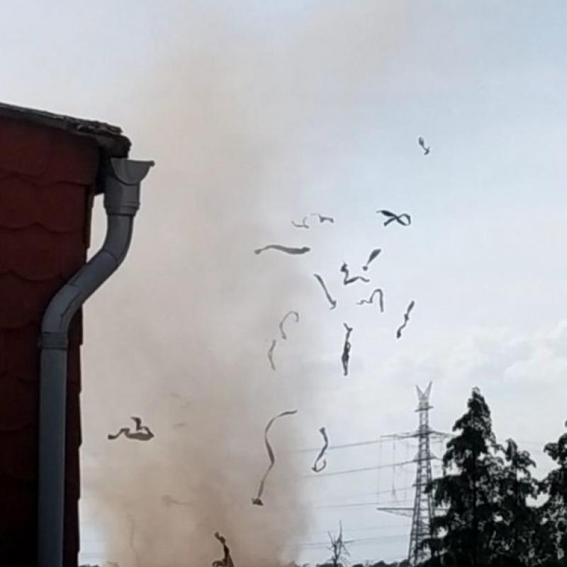 Dust devil, Pfungstadt 15 June 2021
