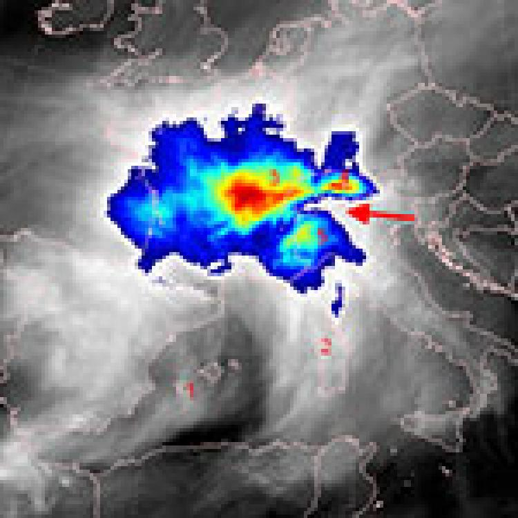 Heavy rain and flooding in Piedmont region of Italy