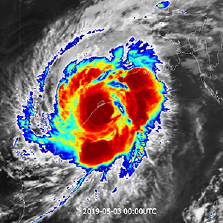 Tropical Cyclone Fani makes landfall in India