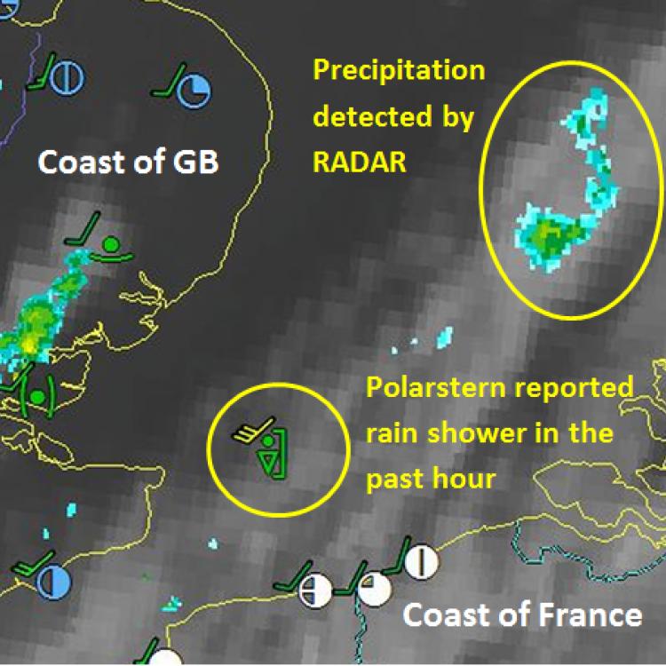 12 Nov 2018, 15:00 UTC, MSG IR10.8, Radar Image, Source: DWD
