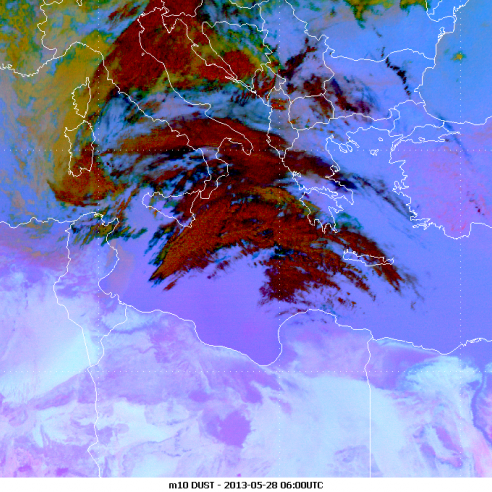 Dust outbreak over Mediterranean and SE Europe