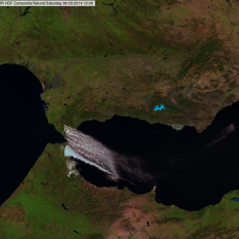 Forced orographic convection - Strait of Gibraltar