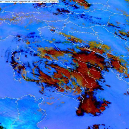 Flash flood in Calabria
