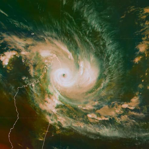 Tropical Cyclone Enawo as seen by Meteosat-8 and 10