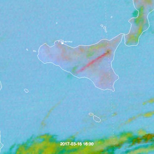 Etna Volcanic Eruption