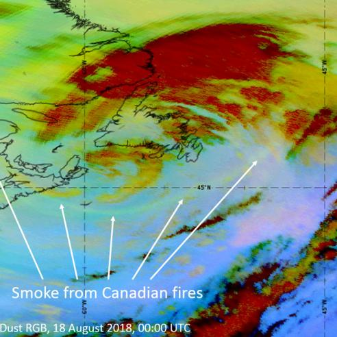 Record-breaking smoke from Canadian fires seen over Europe