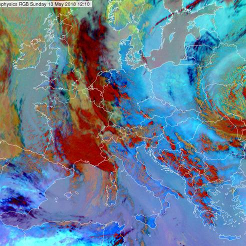 Studying a convective situation in Europe with VIIRS images