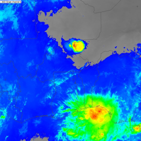 Monitoring a squall line (SQL) over Gulf of Guinea region