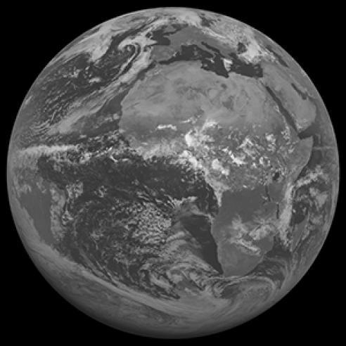 Moon as seen by Meteosat-6