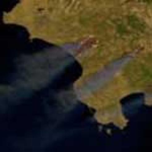 Fires raging in Greece
