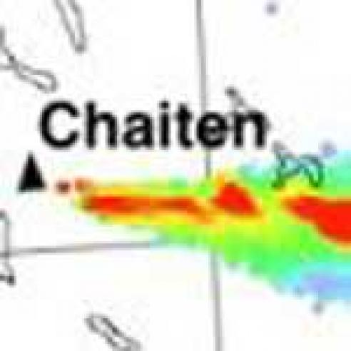 Eruption of the Chaitén volcano in Chile