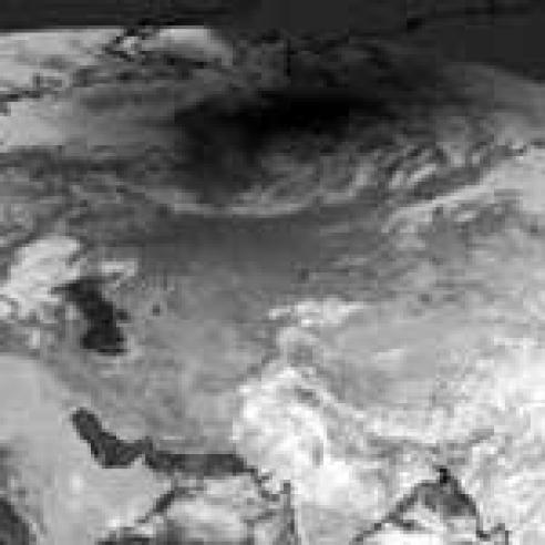 Solar eclipse over Northern Asia
