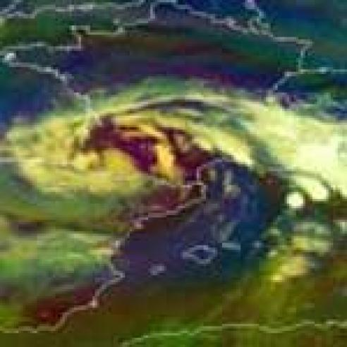 Cut-off low hovering over western Europe