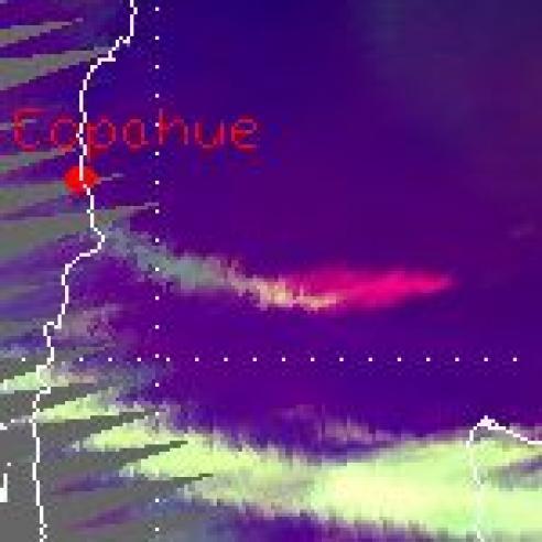Eruption of the Copahue volcano
