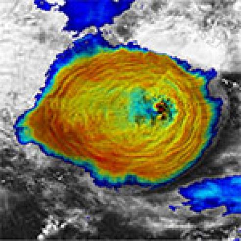 Kelut volcano eruption