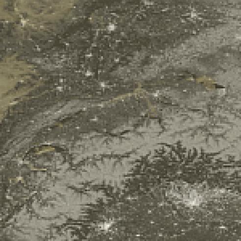 Full-moon scene over the alpine region and Italy