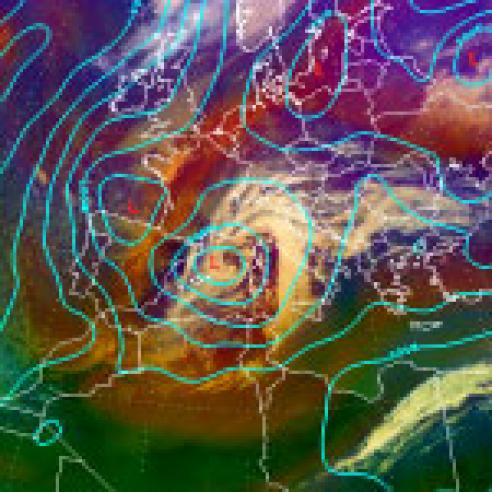 Low pressure brings heavy snow to Spain and Italy
