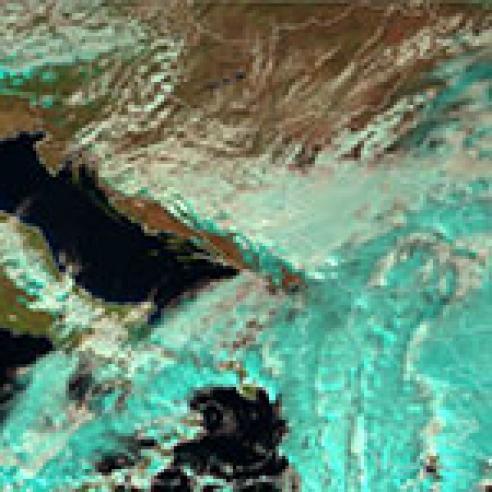 Strong Bora on the Croatian coast