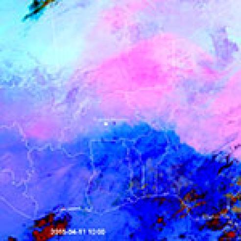 Large dust cloud over Sahel