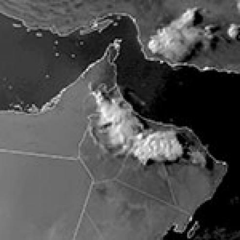 Outflow boundaries over Hajar mountain range, Oman