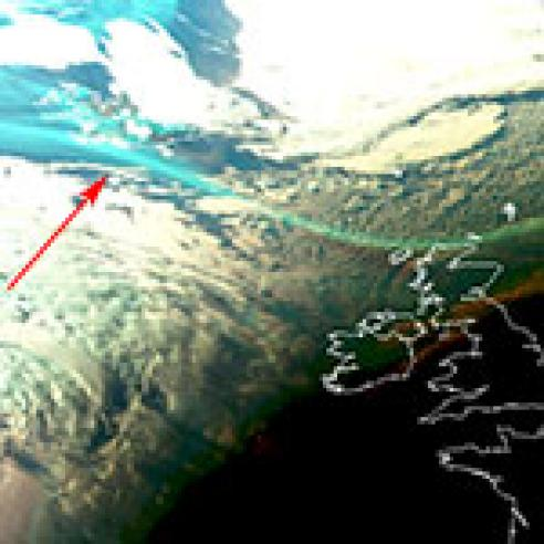 Smoke from Canadian fires seen over Europe