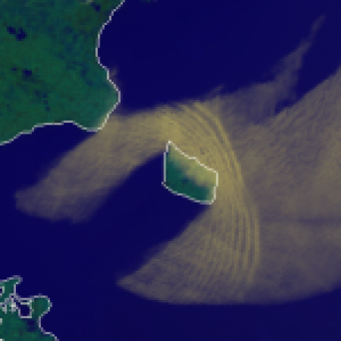 Bow wave over the Baltic Sea