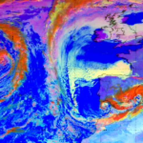 Atlantic airmasses bring freezing temperatures and snow