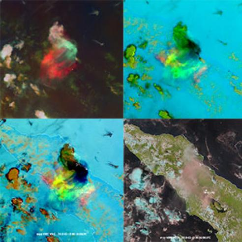 Violent blast from Sinabung volcano