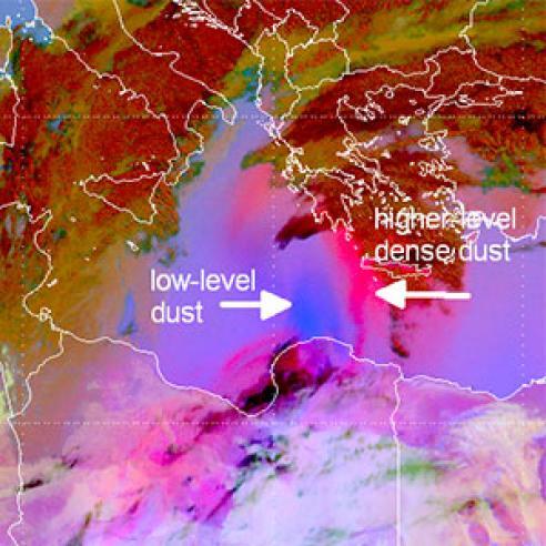 Long-range dust outbreak over Africa