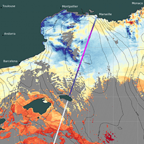 Indications of deep water formation in the Gulf of Lion from Sentinel-3 multi-sensor synergy