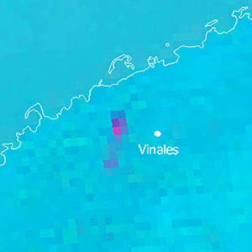 Meteorite impact near Viñales in Western Cuba