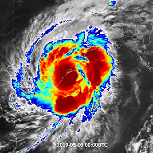 Tropical Cyclone Fani makes landfall in India