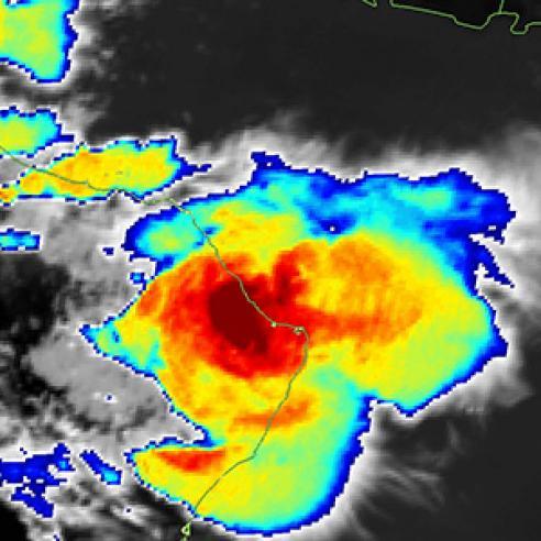 Convective storm over Alsharqyiah region, Oman
