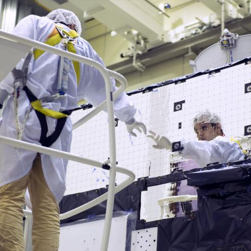 MTG Satellite in the Cleanroom