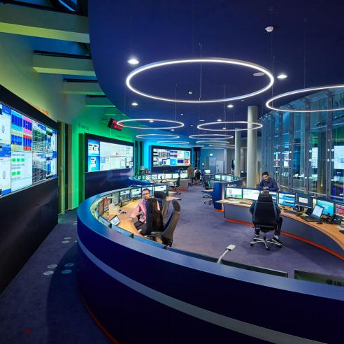 Wide view of the GEO Mission Control Centre