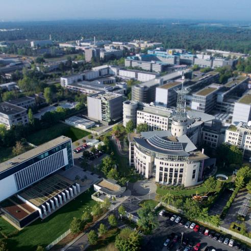 Aerial view of EUMETSAT Headquarters
