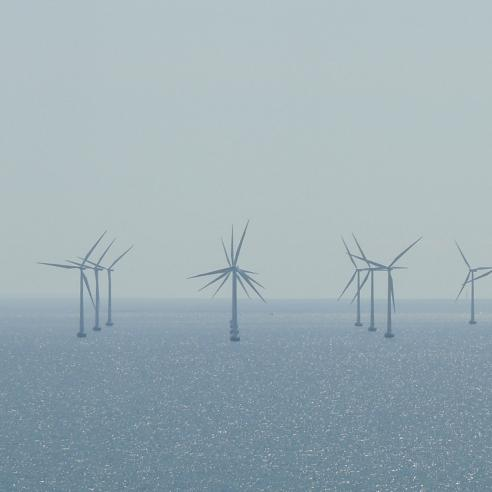 Wind farm at sea