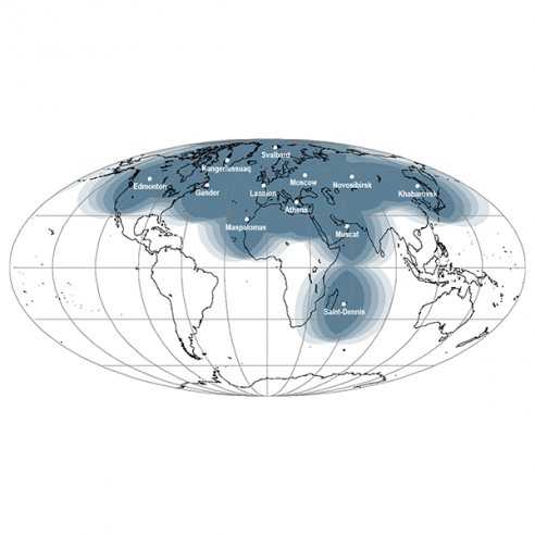 EARS-ATOVS Geographical Coverage Map