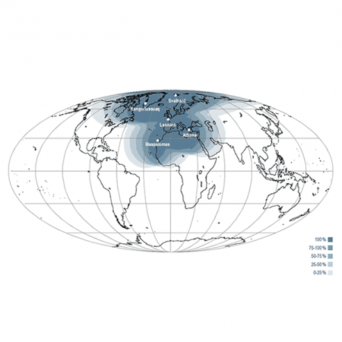 EARS-CrIS Geographical Coverage Map
