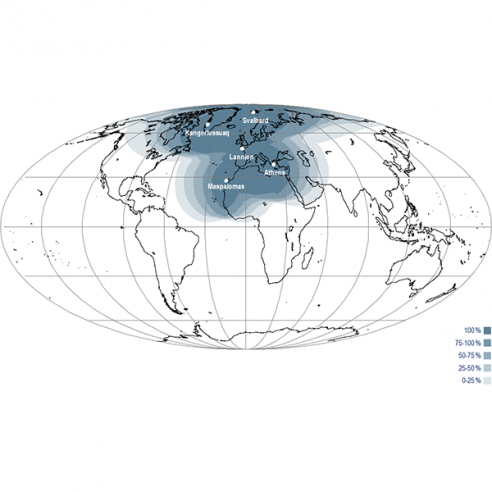 EARS-VIIRS and VASS  geographical coverage map