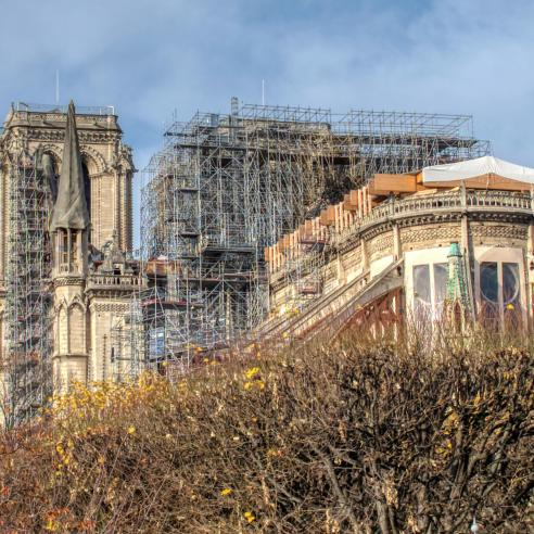 Notre-Dame being restored