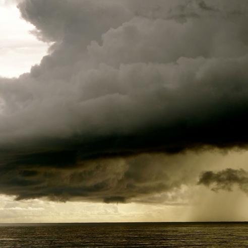 A storm cloud at sea