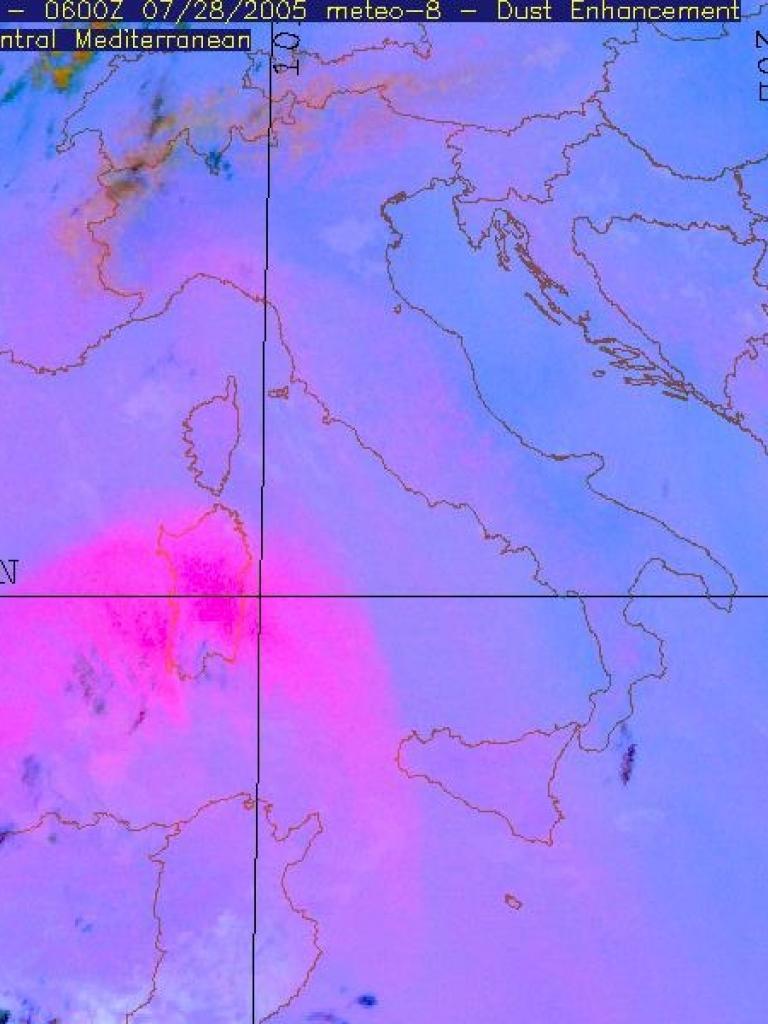Sahara dust outbreak across western Mediterranean