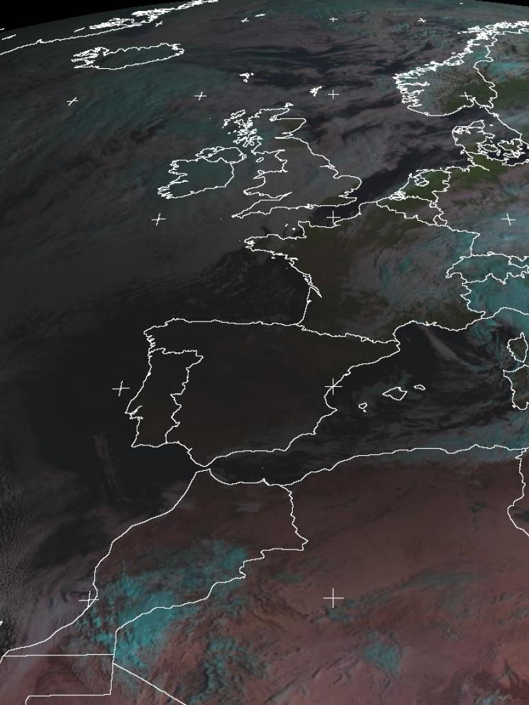 Solar eclipse over Europe and Northern Africa
