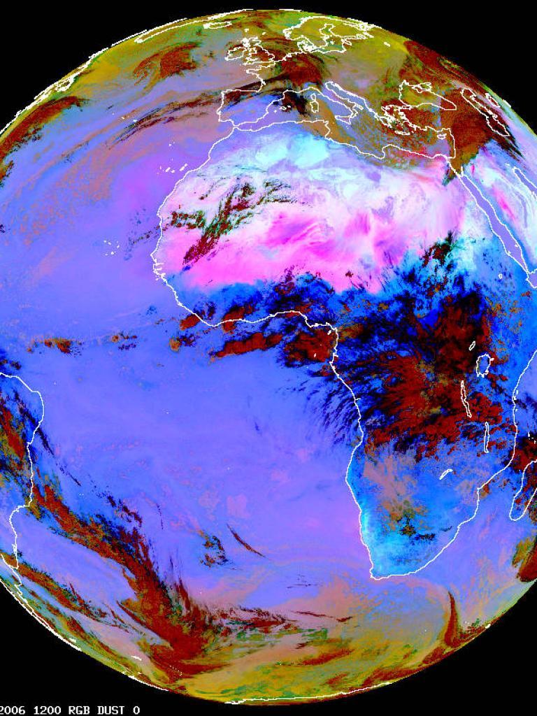Continental-scale Sahara dust outbreak