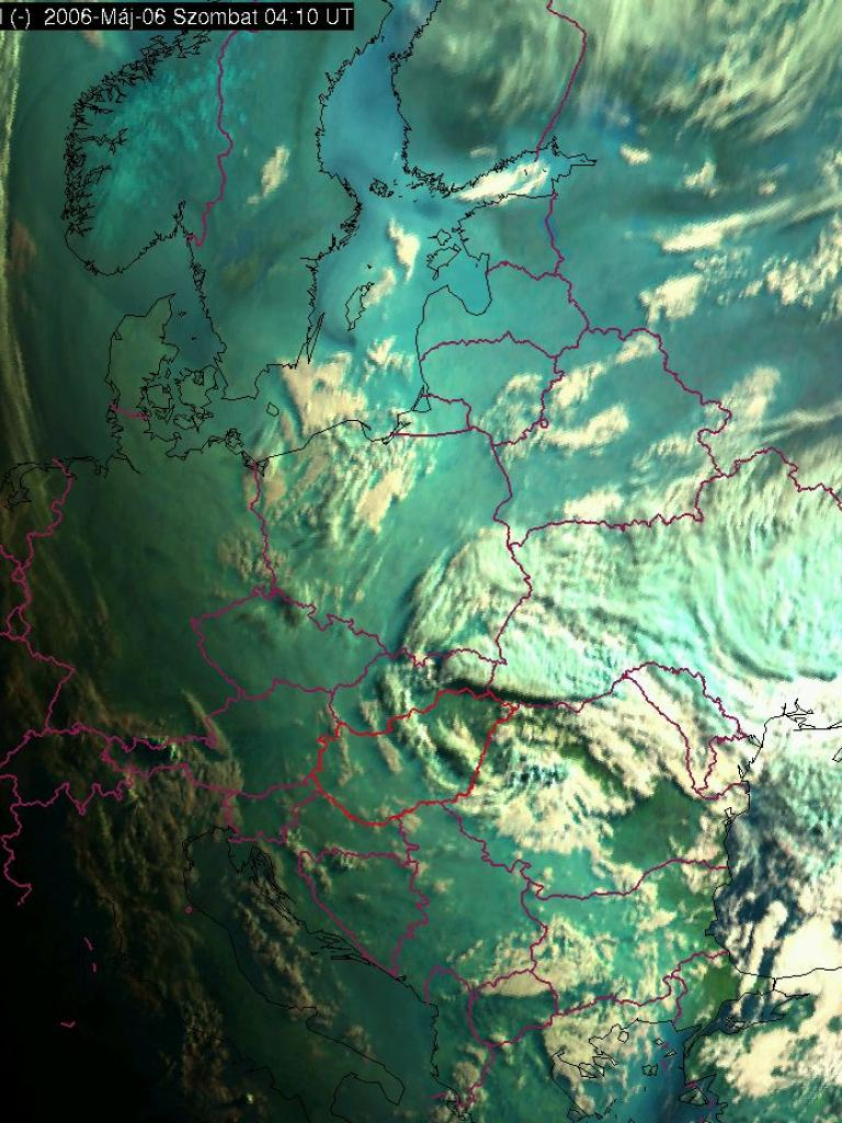 Smoke/pollen plume over Europe and the Northern Atlantic