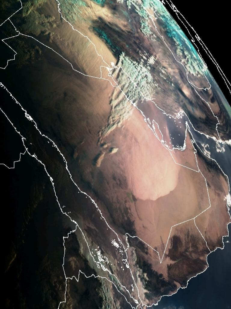 Large dust outbreak over the Middle East