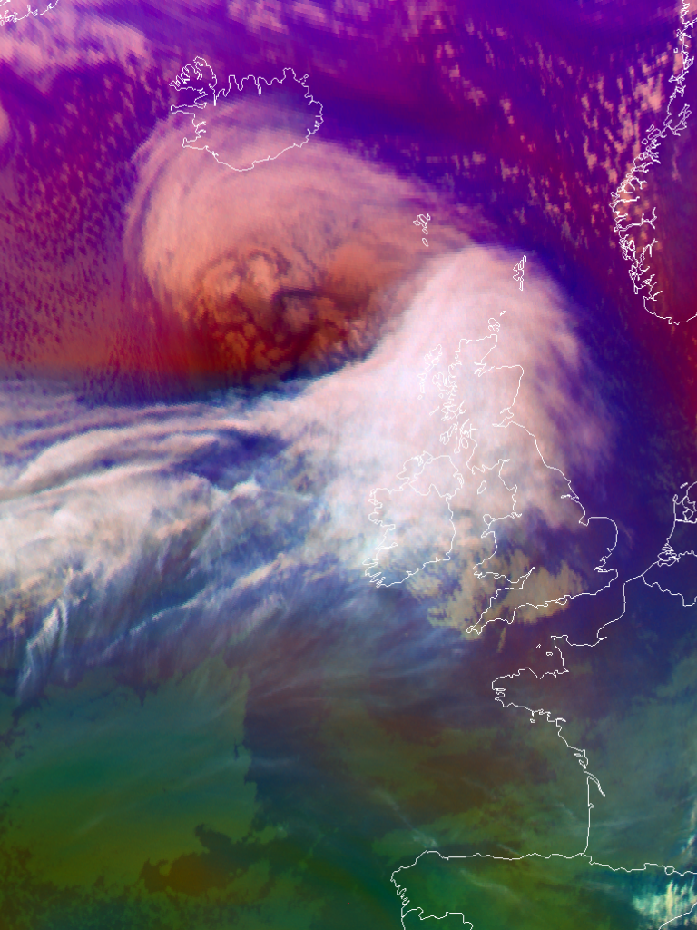 Winter cyclone over Scotland