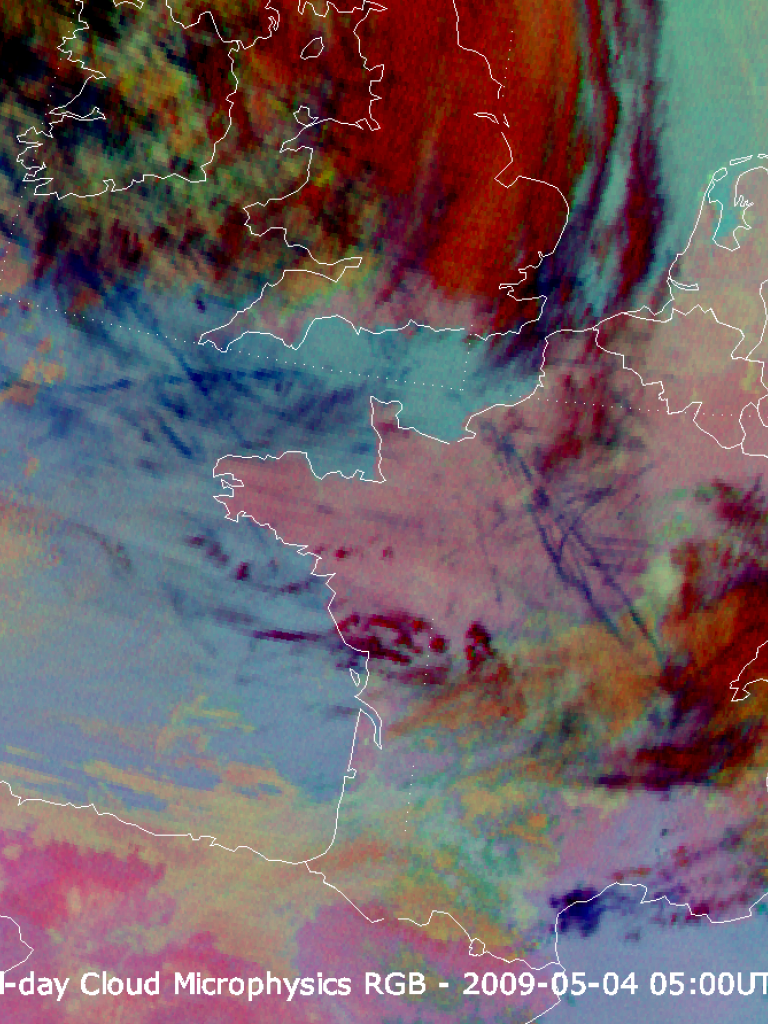 Contrails over western Europe